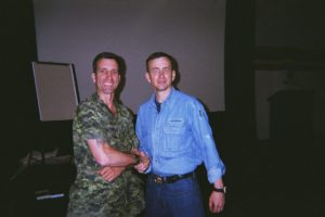 Me meeting retired LCol Dave Grossman. author of On Killing and The Bullet Proof Mind